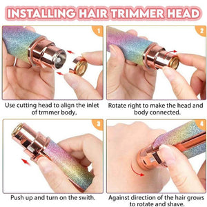 Starry Glide ™ 2 In 1 Eyebrow Trimmer &  Hair Shaver