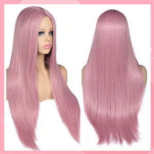 Glamour Sweet Pink Long Hair Wig