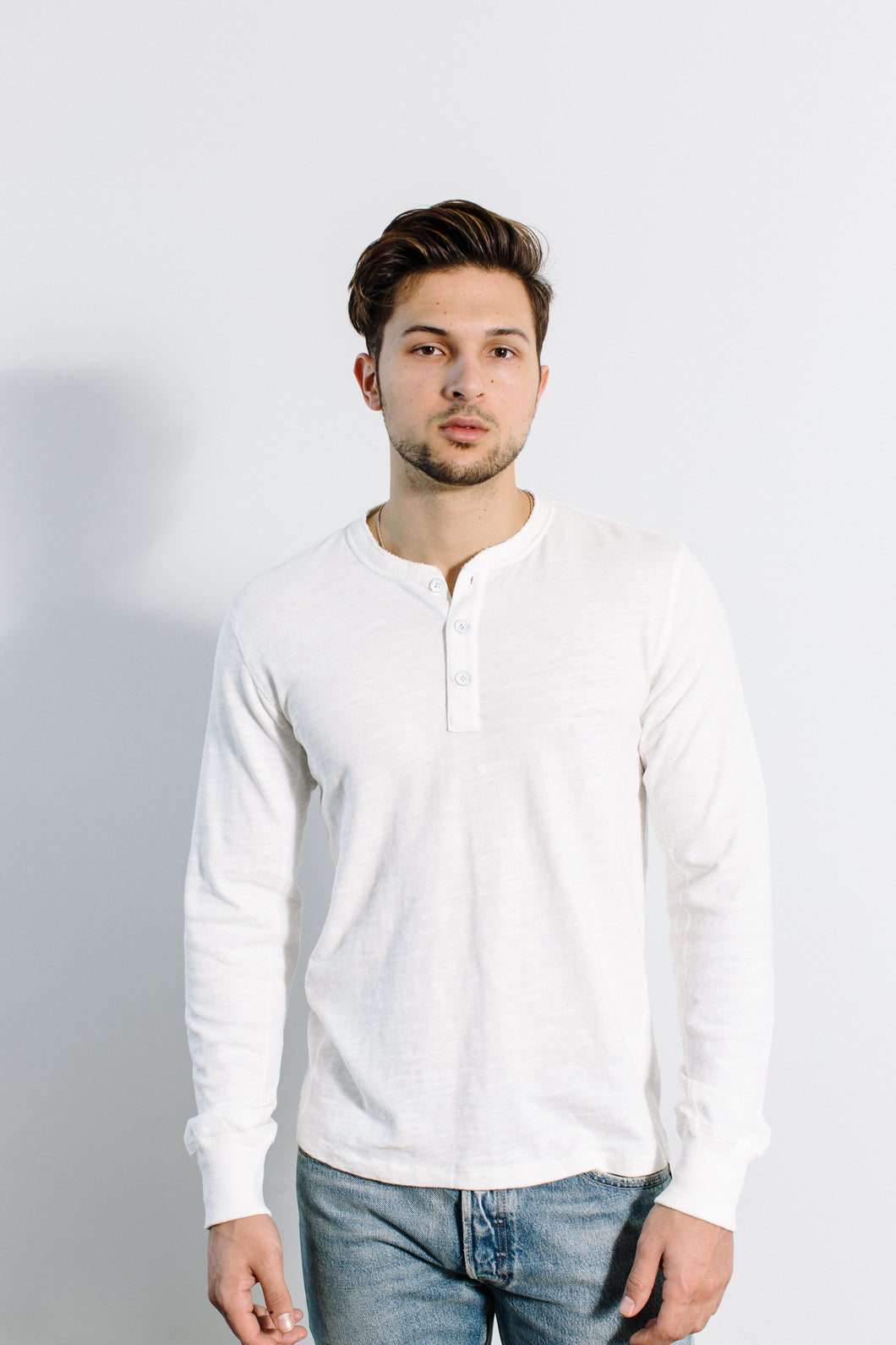 Classic Henley / White
