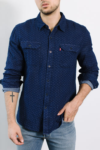 Jackson Work Shirt / Synthesizer Indigo