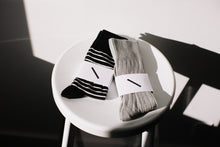 Lightweight Sock / Black/Ivory