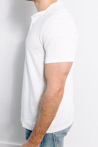 Classic Henley S/S / White
