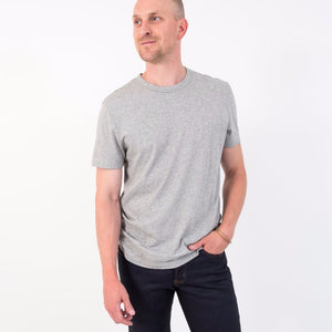 S/S Crew / Heather Grey