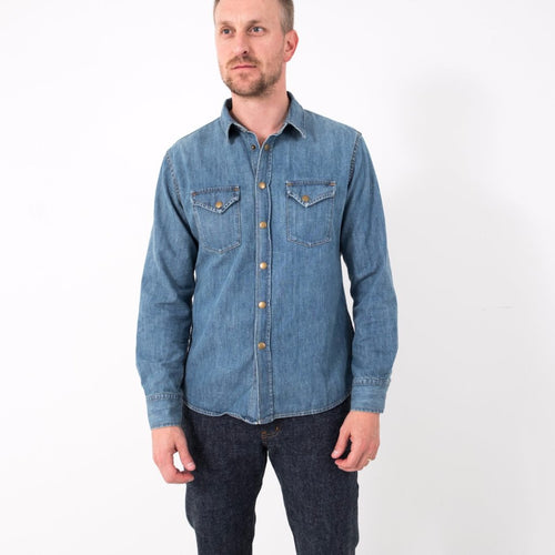 Distressed Shirt / Denim Wash