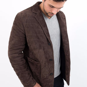 Quilted Blazer / Suede Chocalate