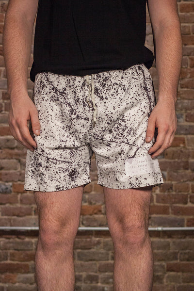 Speckle Print Trunk / White