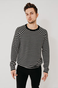 Striped Merino Wool Crew