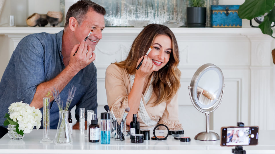 Skincare and Virtual Makeovers with Brian + MW