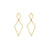 Hammered Double Diamond Earrings