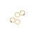 Hammered Infinity Stud Earrings