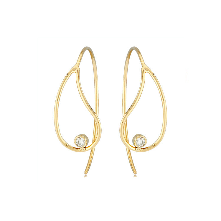 Diamond Accent Teardrop Earrings