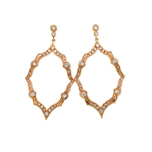 Marquise Shape Diamond Drop Earring