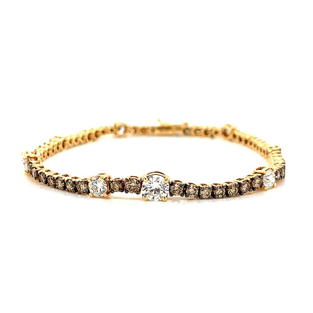 Brown & White Diamond Bracelet