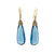 Blue Topaz Drop Wire Back Earrings
