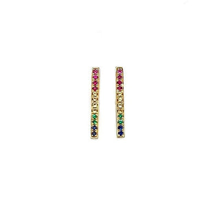 Rainbow Bar Stud Earring