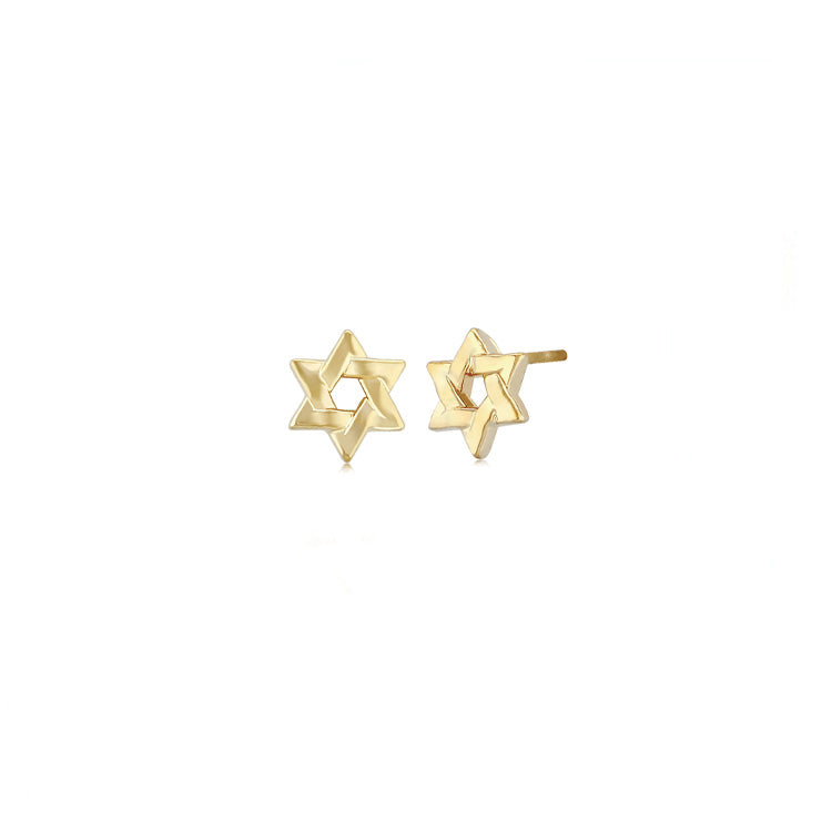 Plain Star of David Stud Earrings
