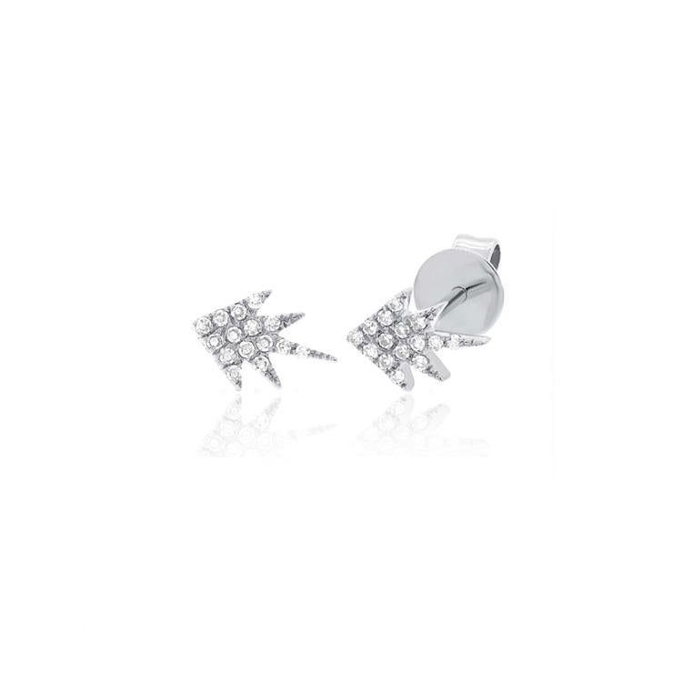 Five Point Diamond Stud Earrings