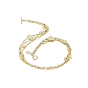 Gold Sueno Double Wrap Toggle Bracelet