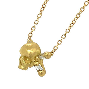 Skull and Crossbones Diamond Necklace
