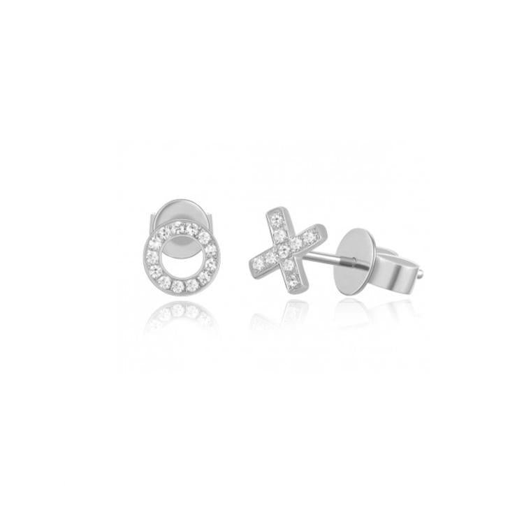 Hug and Kiss Diamond Stud Earrings