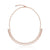 Round and Baguette Diamond Choker Necklace