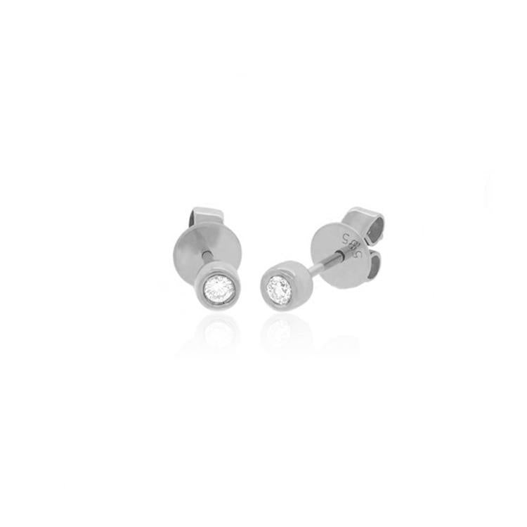 Mini Bezel Stud Earrings