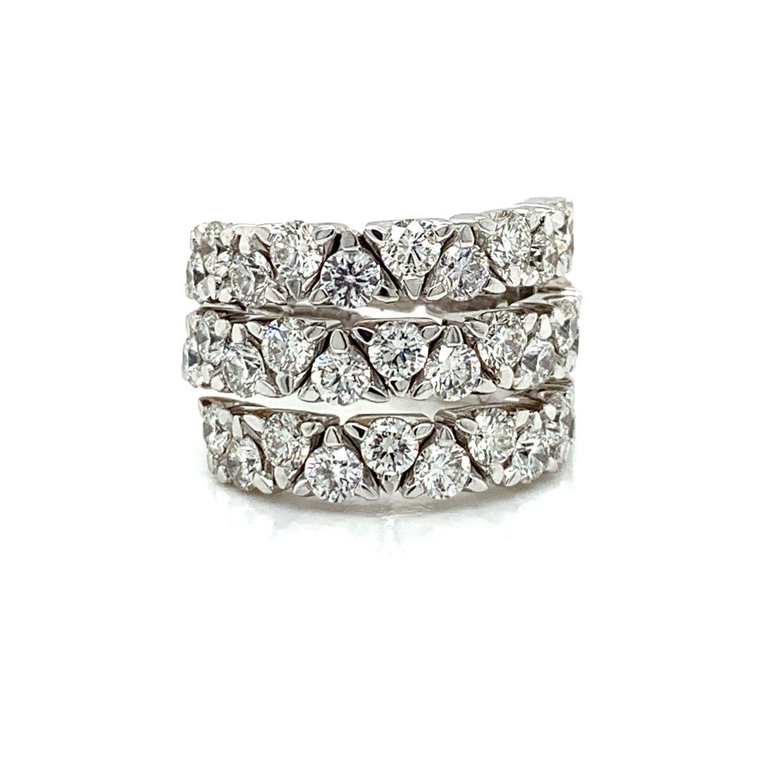 Triple Wrap Diamond Ring