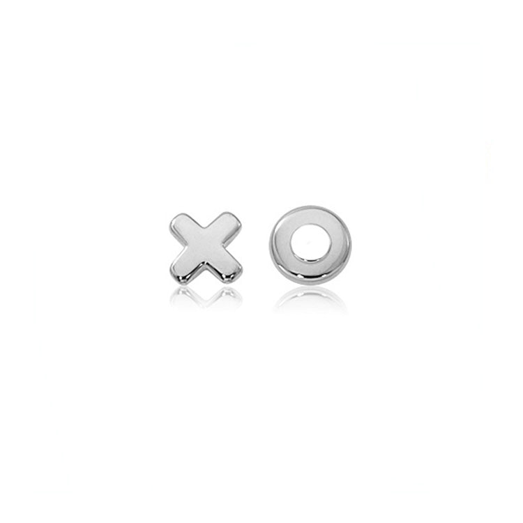 Flat Hug and Kiss Stud Earrings