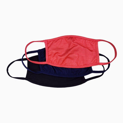 Sun Protective UV Face Mask UPF 50+ 3 pack - Black, Navy, Coral - Sun50