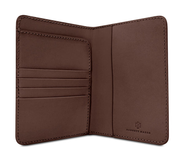Brisso Brown Passport Holder