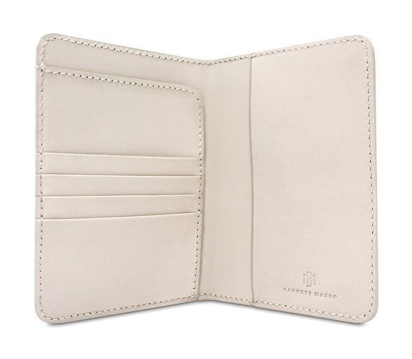 Brisso Off White Passport Holder