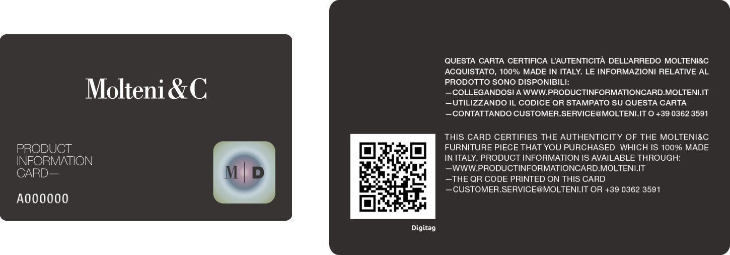 molteni product information card