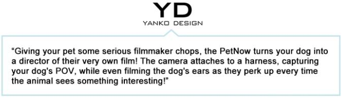 What yanko design said about PetNow Camera