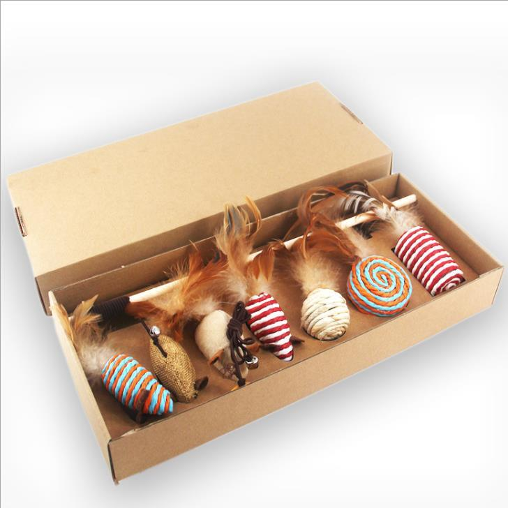 Feather Cat Teaser Toy Gift Box - PetNow