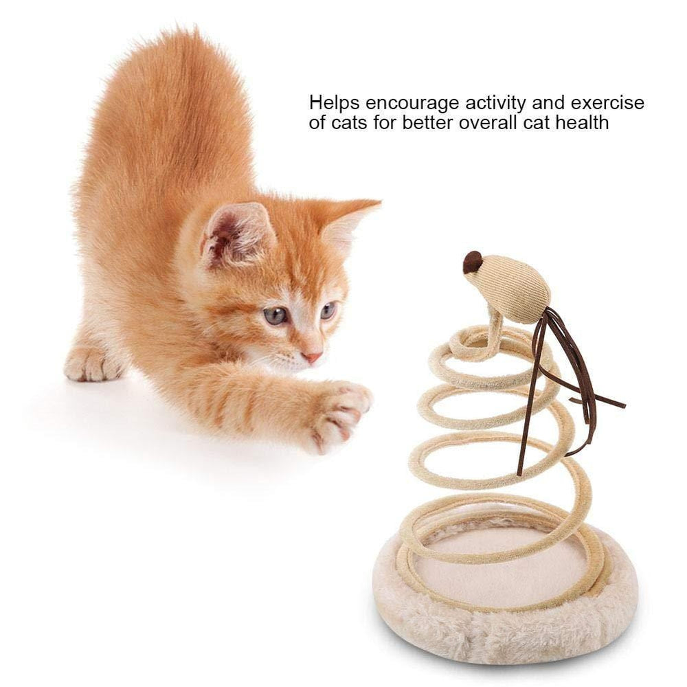 Mouse Spring Toy Funny Cat Teaser - PetNow