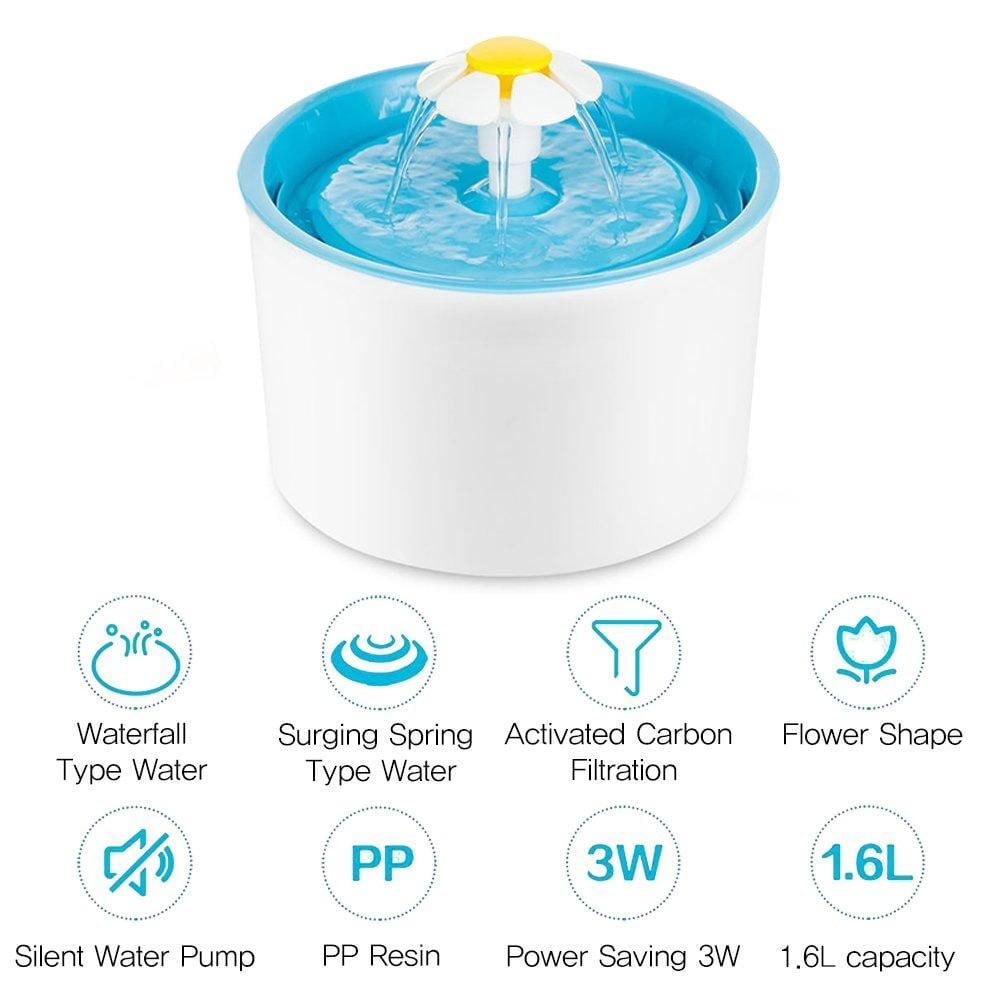 Auto Circulating Cat Water Fountain - PetNow