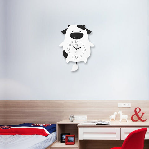 Cartoon Silent Wall Clocks For Kids Rooms