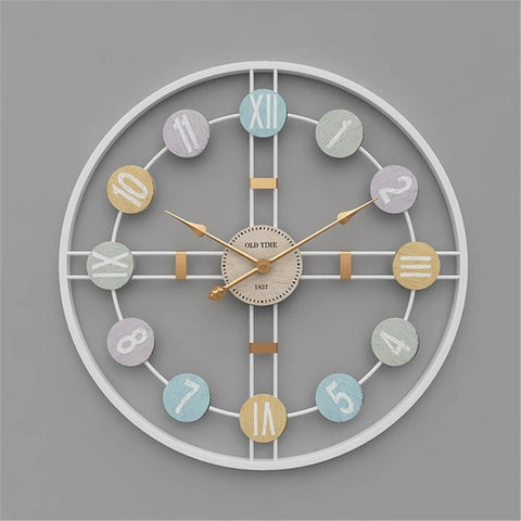 3D Retro Nordic Metal Wall Clock