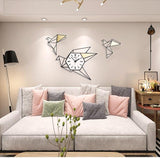 New Geometric Bird Silent Large Diy Wall Clocks