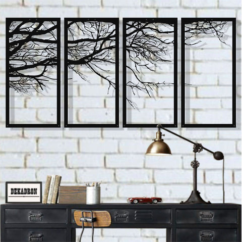 Tree of Life 4 Pieces Metal Wall Art