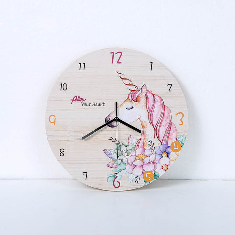Fashion Horse Flower Wall Clock