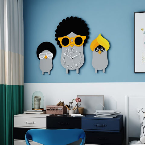 Cartoon Silent Wall Clock