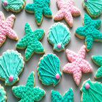 Ocean Creature Mermaid Cookie Cutters Set - 7 Piece
