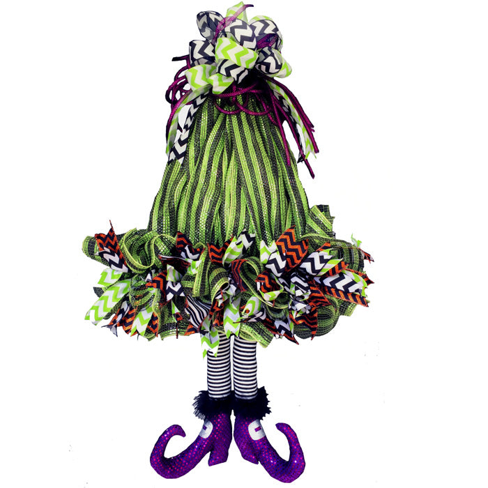 2016 Witch Hat with Legs Wreath Tutorial
