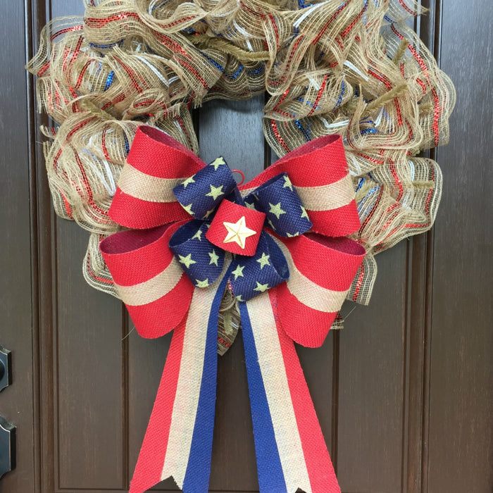 2017 Minimalist Patriotic Wreath Tutorial