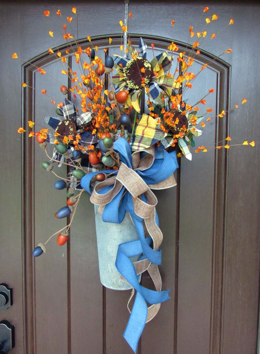 2017 Autumn Door Floral Tutorial