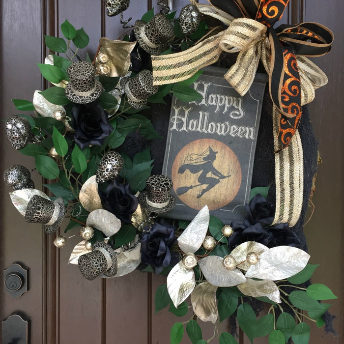 2017 Glitzy Halloween Wreath Tutorial