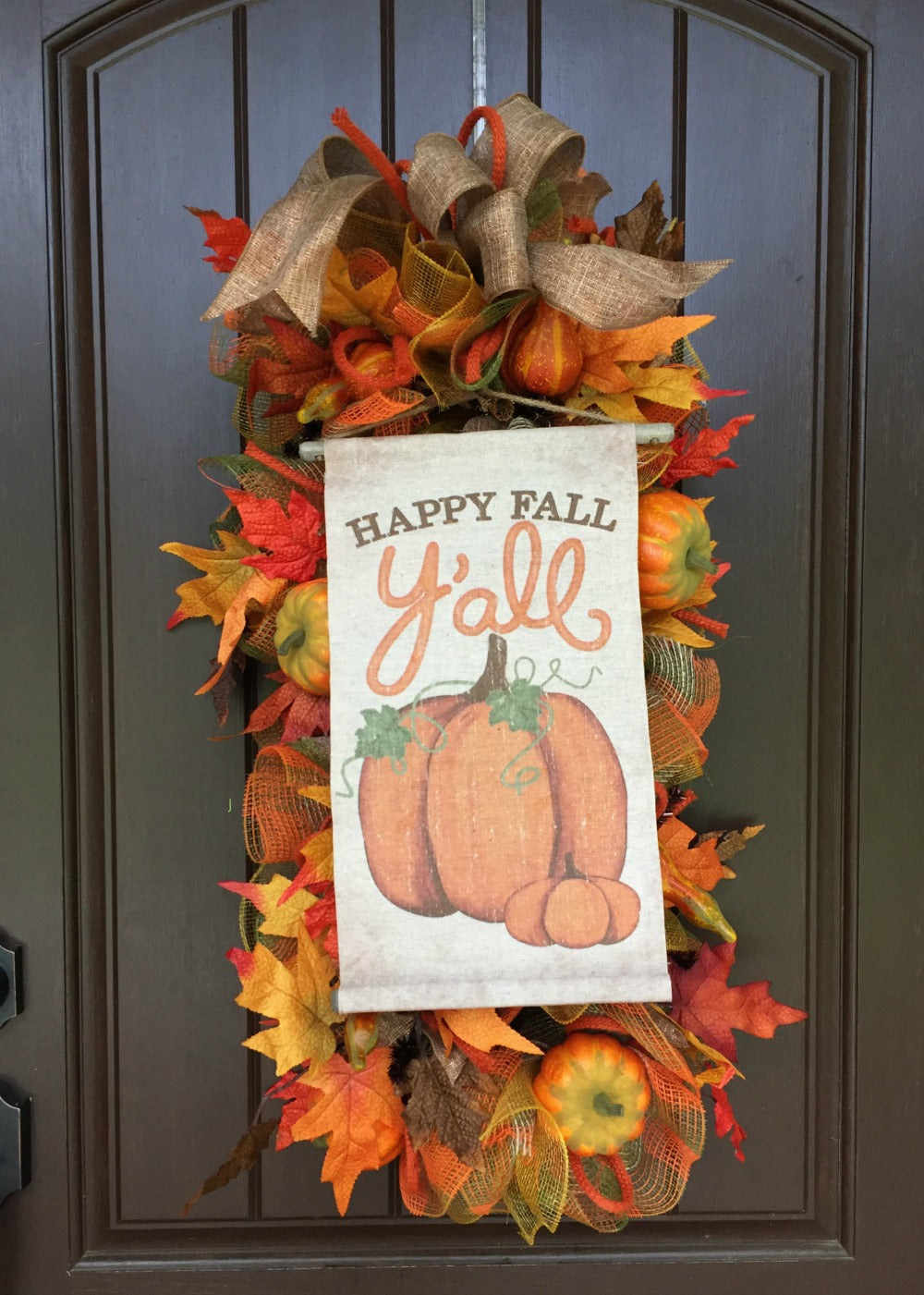 Happy Fall Y'all Swag Wreath Tutorial 2017
