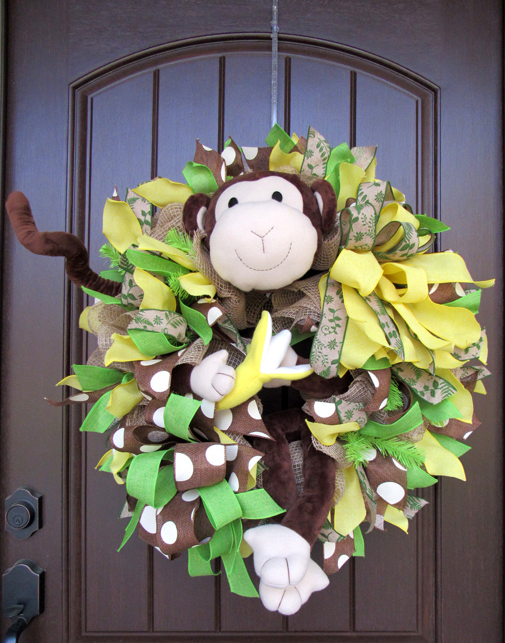 2017 Monkey Ruffle Wreath Tutorial