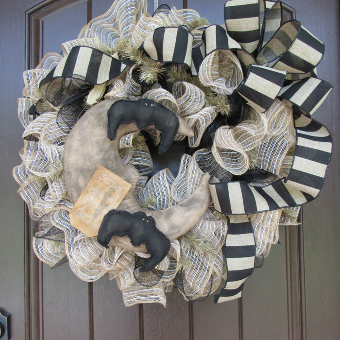 2017 Primitive Halloween Wreath Tutorial